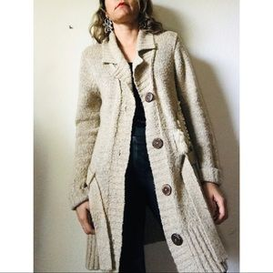 Free people rare long cardigans sweater size S P .